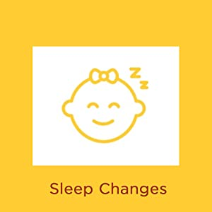 What causes diaper rash? Illustration of sleeping baby with words Sleep Changes