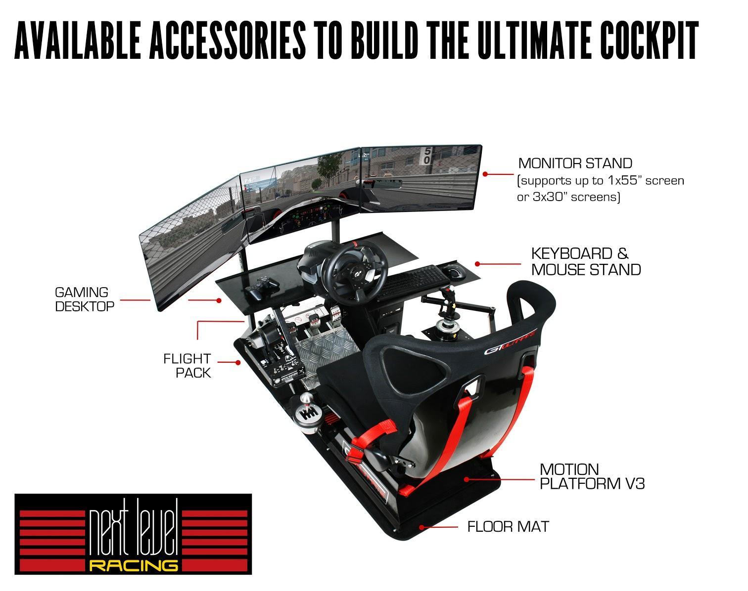 Next Level Racing GTultimate v2 Simulator Cockpit – Click com bn
