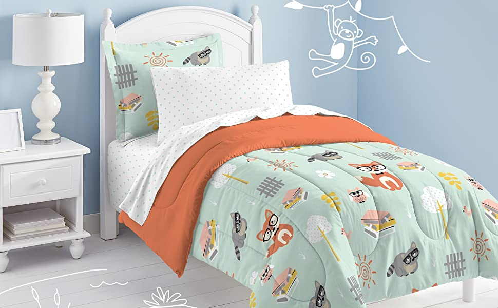 woodland theme decor ideas get the look at home.htm amazon com dream factory casual woodland friends comforter set  woodland friends comforter set