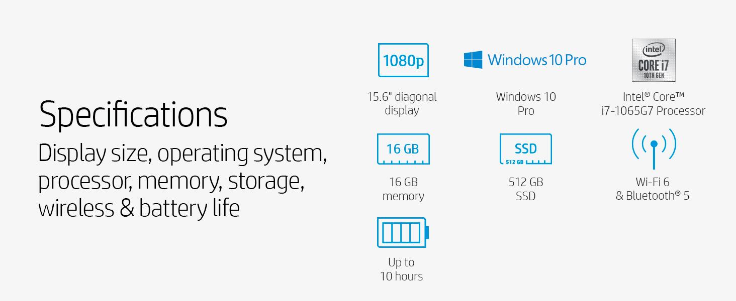 display windows 10 pro intel core 10th gen generation i7 16 gb 512 ram sdram ddr ssd