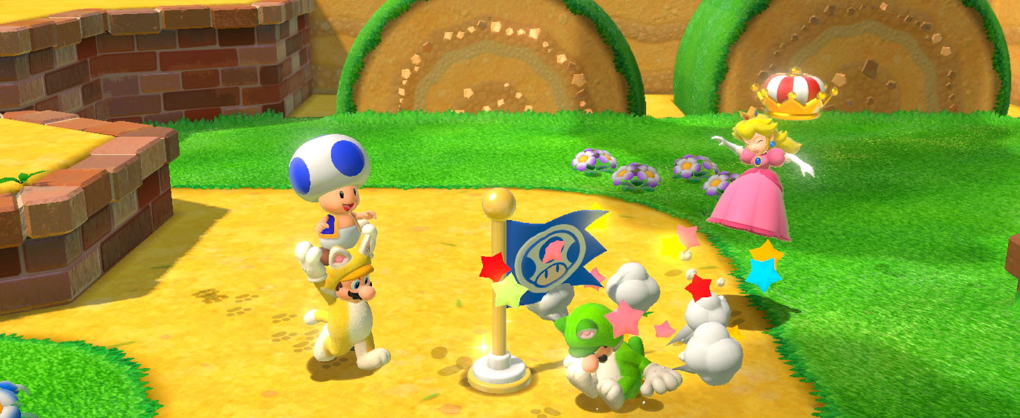 Cat Mario, Cat Luigi and Friends play together!