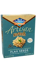 Artisan Nut-Thins Cracker Crisps, Flax Seeds