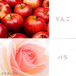もぎたてりんごとバラの花をブレンドした、女性らしい香り