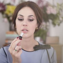 eyeliner; MAC lipstick