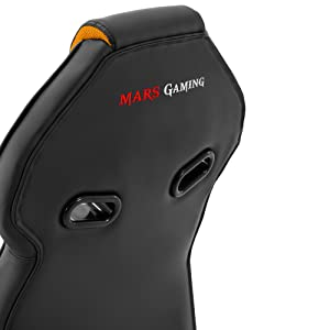 Mars Gaming MGC118 Silla Gaming, Inclinación y Altura Regulables, Rojo, L