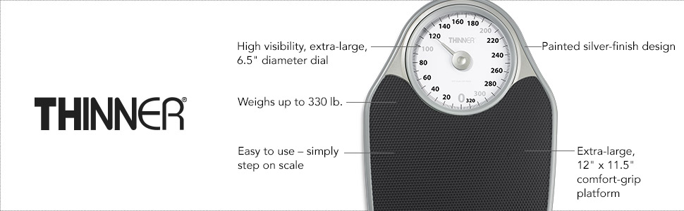 Thinner Bathroom Scale, Easy-to-use, simply step on scale, weight management, weight tracking
