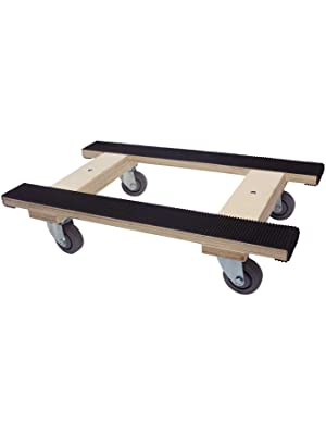 """Forearm Forklift Heavy Duty Moving Dolly full length rubber tread, 18"""" x 30"""", 4"""" Casters"""