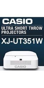 Casio XJ-UT351W Laser LED Hybrid projector 889232800431 school business classroom short throw ultra