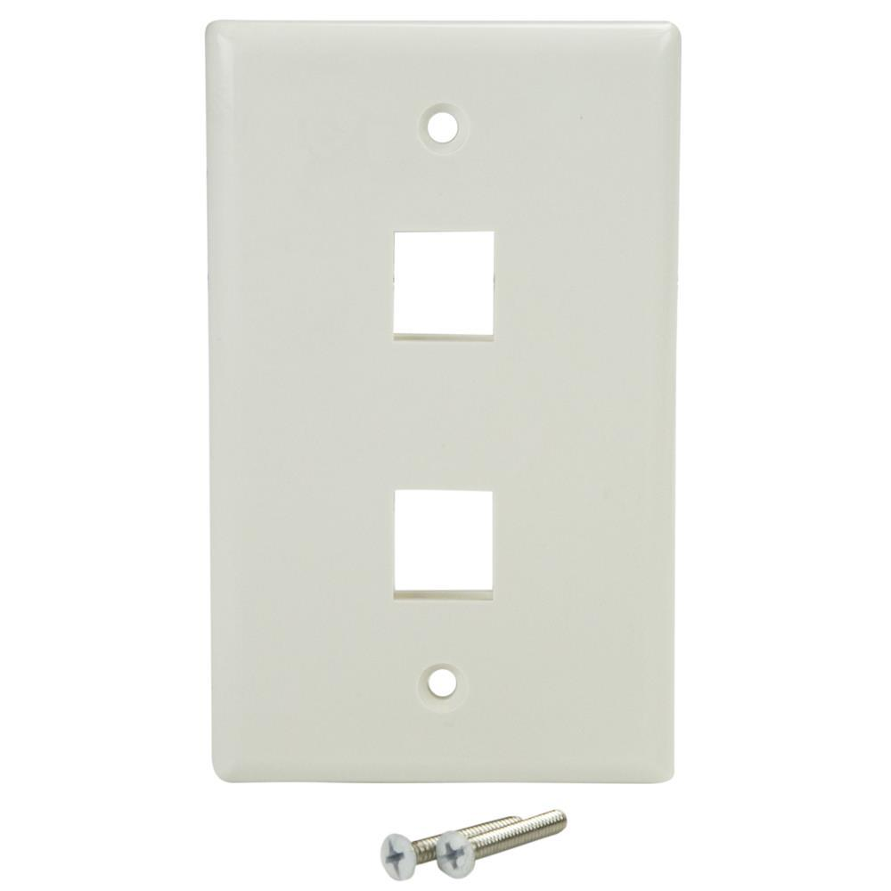 home wiring wall plate amazon com startech plate2wh dual outlet rj45 universal  amazon com startech plate2wh dual outlet rj45 universal
