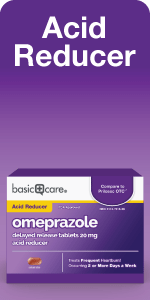 Acid Reducer graphic omeprazole package