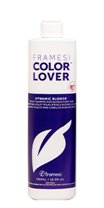 Framesi Color Lover Dynamic Blonde Violet Shampoo,  brighter and more refined hair