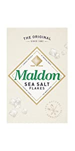 original Maldon all natural Sea Salt Flakes clean taste