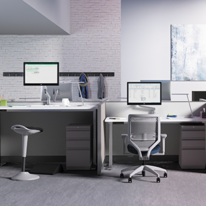 office, desk, chair, furniture