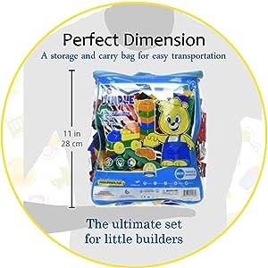 a862900ffdd3 Amazon.com  Dimple 150 Piece Soft Plastic Multi Colored Building ...