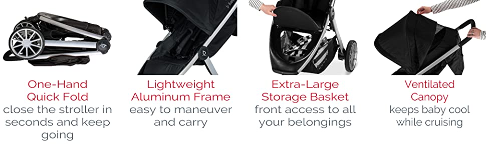 B-Lively & B-Safe 35 Travel System Stroller Features