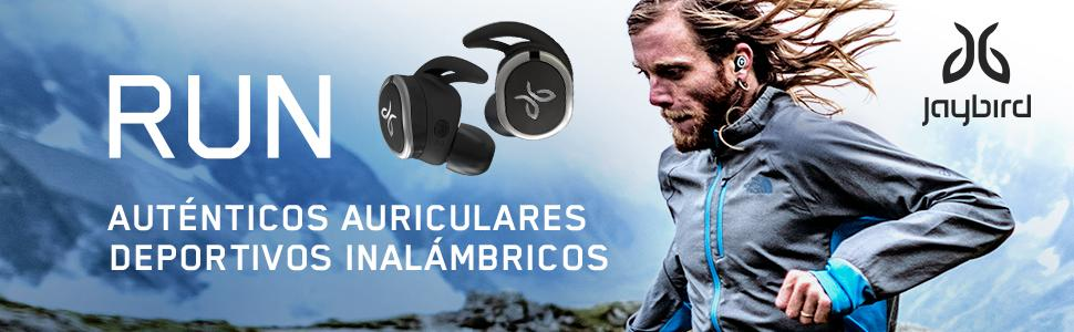565428a98eb Jaybird Run - Auriculares inalámbricos Deportivos (Bluetooth 4.1 ...