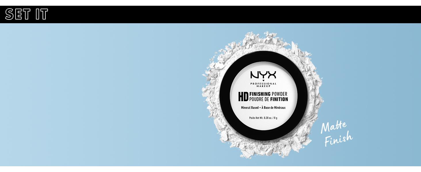 nyx high definition finishing powder face setting powder