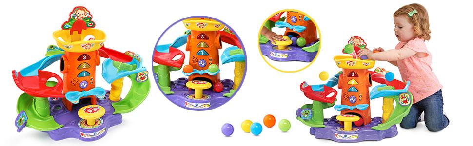 Vtech 80 505422 Tobogán De Bolas Locas Electrónico Interactivo P Color Verde 80 505422 Amazon Es Juguetes Y Juegos