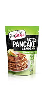 flapjacked cinnamon apple protein pancake and baking mix