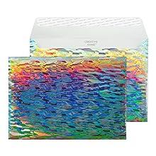 EFA790-76 5 1//4 x 7 1//4 Peel /& Seal Shimmering Rainbow - Pack of 250 Blake Creative Shine Holographic A7 Invitation Envelopes
