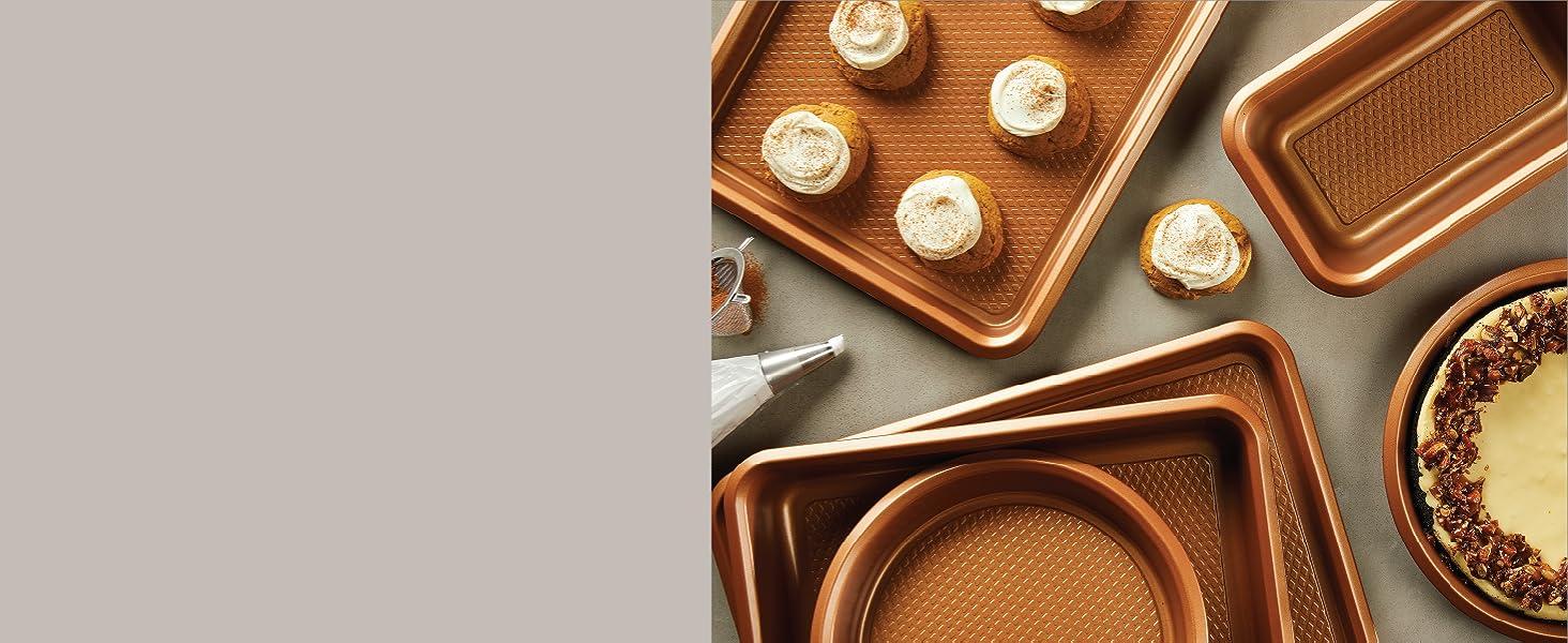 bakeware, baking pans, nonstick bakeware, copper bakeware, baking sheet, cookie pan