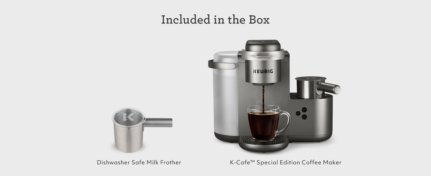 keurig k cafe, kcafe, coffee maker, coffeemaker, cappuccino, latte, kcups, coffee machine, k cup pod