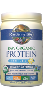 garden of life, raw organic protein