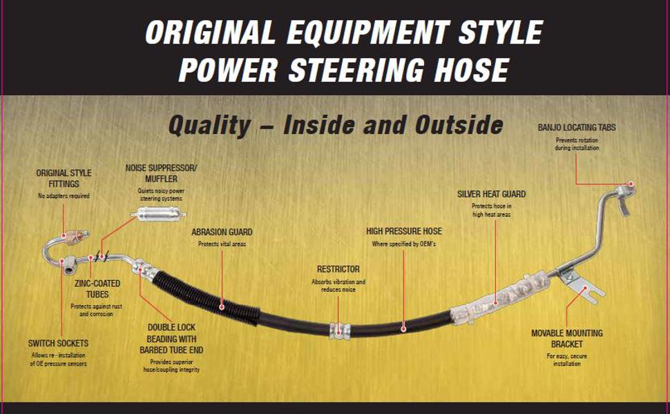 Power Steering Return Line Hose Assembly Sunsong North America 3402985