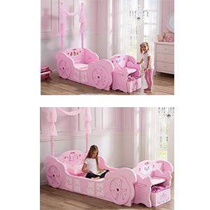 save off 35b7e da4e6 Delta Children Disney Princess Carriage Toddler-to-Twin Bed