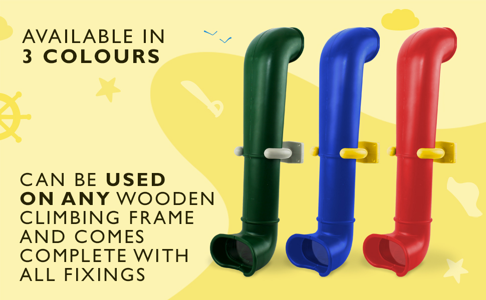 Hiks - Periscopio Verde para niños para Escalada, casa de árbol y Casitas de Juegos.