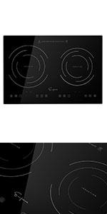 Double Countertop Burner, Countertop cooktop, Countertop cooker, induction cooktop 2 burner