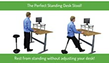 adjustable active sitting balance standing desk stool chair