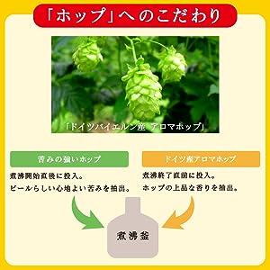 新・麦とホップ「ホップへのこだわり」ドイツバイエルン産アロマホップ「ハラタウ・トラディション」を一部使用。添加方法を変更し、ビールには欠かせない苦みと香りを付与。飲み飽きない後味を目指しました。