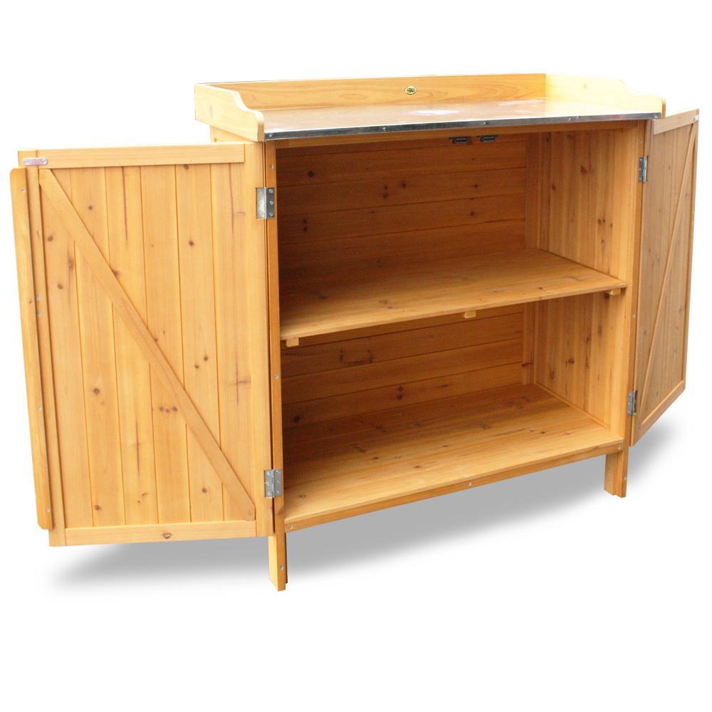habau 3106 gartentisch mit unterschrank 98 x 48 x 95 cm. Black Bedroom Furniture Sets. Home Design Ideas