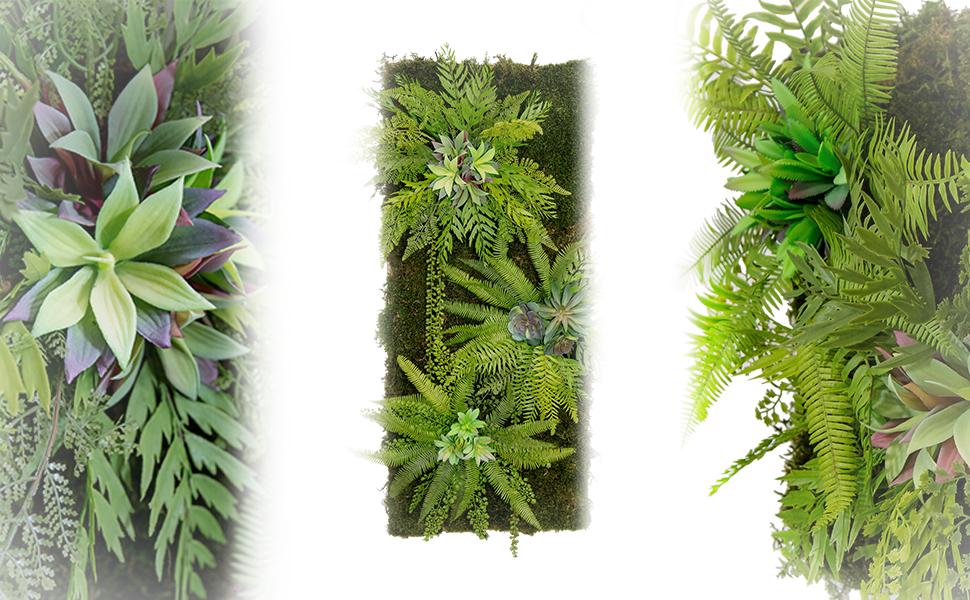 Maia Shop Jardín Vertical, Ideal para Decoración del Hogar u Oficina, Diseño de Espacios, Árbol, Flor, Planta Artificial (42 x 42 cm): Amazon.es: Hogar