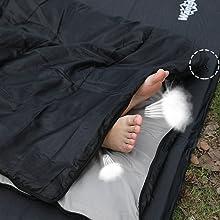 wantdo sleeping bag free your feet