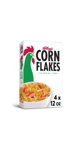 Corn Flakes Breakfast Cereal, Original, 12 oz (Pack Of 4)