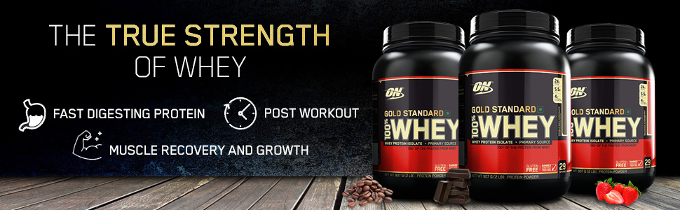 Whey Gold Standard, ON Whey, Optimum Nutrition, Whey Protein, Protein Powder