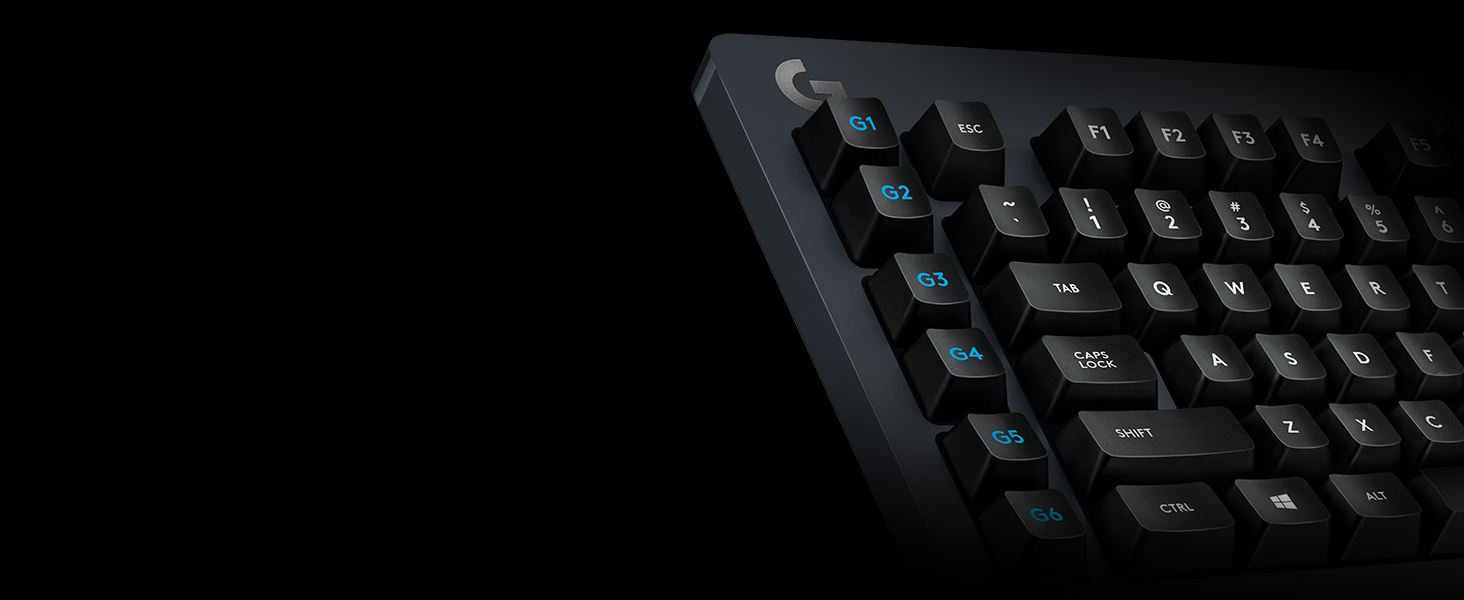 Logitech G613 Teclado Gaming Mecánico Inalámbrico, Lightspeed 1ms 2,4GHz y Bluetooth, Teclas Romer-G Táctil, Multidispositivos, 6 Teclas G-Keys ...