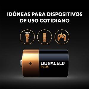Las pilas Duracell Plus son unas pilas alcalinas multiuso idóneas para dispositivos de uso cotidi