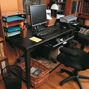 Here are some of the tricks that make this an ADHD-friendly work space: