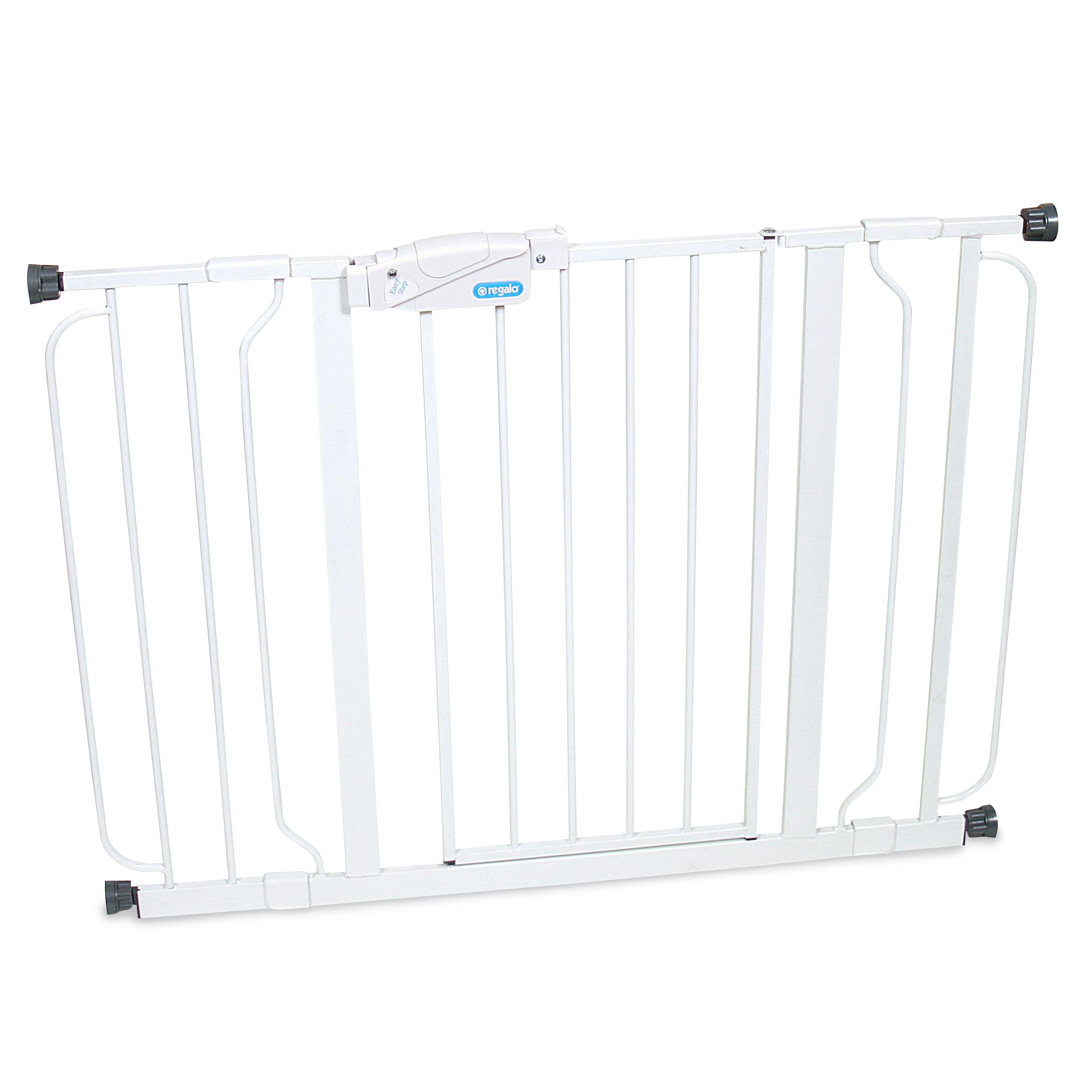 regalo easy step 44 inch extra wide baby gate. Black Bedroom Furniture Sets. Home Design Ideas