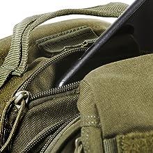 Zippered fleece-lined eyewear pocket