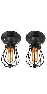 Fuloon Vintage Edison Multiple Ajustable Diy Ceiling