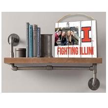Illinois Fighting Illini Clip It Weathered Logo Collage Photo Frame