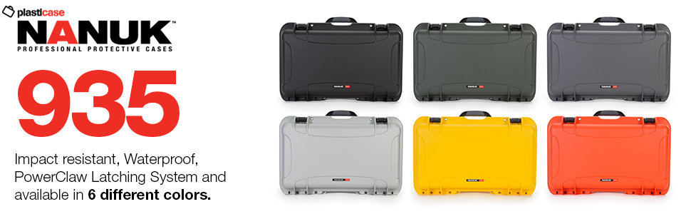 Graphite Nanuk 935 Waterproof Hard Case with Wheels and Foam Insert for Sony Mirrorless Cameras and Lenses Renewed