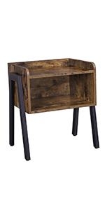 Mesa para sofá vintage · Mesa auxiliar vintage · Mesa vintage con ruedas · Mesita de noche apilable · Mesa de Centro Rectangular con Estante ...