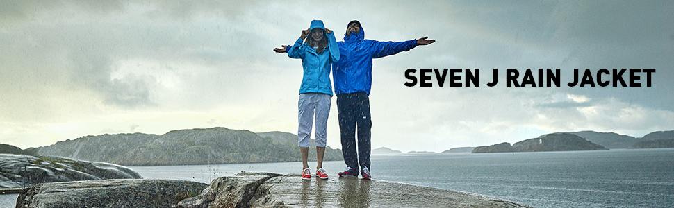 seven j rain jacket, waterproof rain jacket, helly hanson, rain jacket with hood, breathable rain