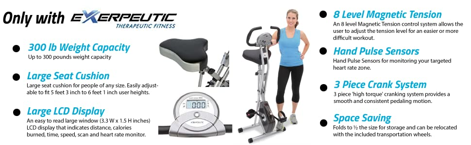 Exerpeutic Folding Bike