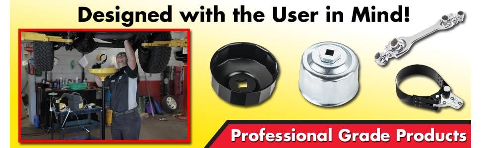 Lumax LX-1808 Adj Filter Wrench 2-7//8 to 4